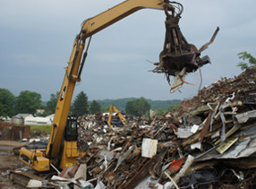 Iron Magnetic Crane Material Sorting Muskingum Iron Metal Recycling