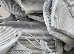 Recycled Scrap Metal Materials Automotive Radiators